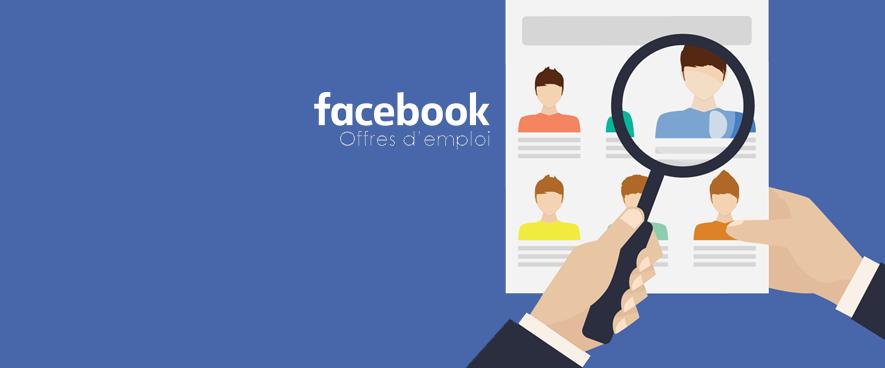 L'onglet offre d'emploi de Facebook